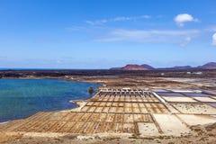 Salinas de Janubio, Lanzarote, salt refinery Stock Photos