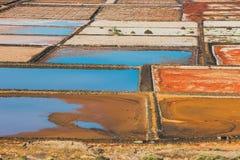 Salinas de Janubio, lanzarote, Spain Stock Photography