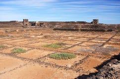 Salinas de los Agujeros, Lanzarote Fotografía de archivo libre de regalías