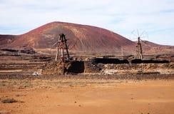 Salinas de los Agujeros, Lanzarote Foto de archivo