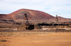 Salinas de los Agujeros, Lanzarote Stock Photo
