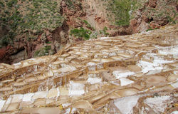 Salinas de Maras ancient salt mines Royalty Free Stock Image