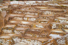 Salinas de Maras ancient salt mines, Cusco, Peru. Royalty Free Stock Photography