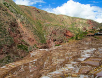 Salinas de Maras ancient salt mines, Cusco, Peru. Stock Images