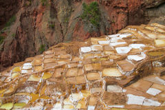 Salinas de Maras ancient salt mines, Cusco, Peru. Royalty Free Stock Photo
