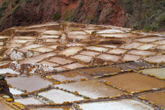 Salinas de Maras ancient salt mines, Cusco, Peru. Royalty Free Stock Images