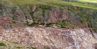 Salinas de Maras ancient salt mines, Cusco, Peru Royalty Free Stock Photography