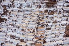 Salinas de Maras, man-made salt mines near Cusco, Peru Royalty Free Stock Photo