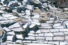 Salinas de Maras, Pérou Image stock