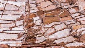 Salinas de maras perto do cuzco em um dia ensolarado Imagem de Stock
