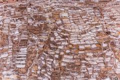 Salinas de maras perto do cuzco em um dia ensolarado Foto de Stock