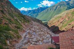 Salinas de Maras, Sacred Valley, Peru Stock Image
