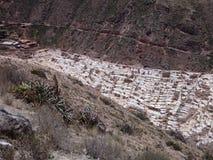 Salinas de maras in sacred valley Stock Photography