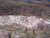 Salinas de maras in sacred valley Stock Photos