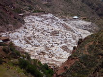 Salinas de maras in sacred valley Royalty Free Stock Photo
