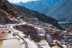 Salinas de Maras, Sacred Valley, Peru Royalty Free Stock Photos