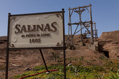 Salinas de Pedra de Lume. Saline in Sal on Cabo Verde Royalty Free Stock Photos