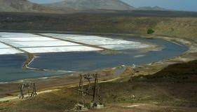 Salinas De Pedra De Lume Zdjęcie Stock