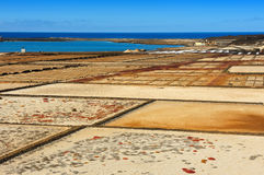 Salinas del Janubio, Lanzarote Island, Canary Islands, Spain Royalty Free Stock Photography