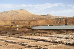 Salinas del Janubio, Lanzarote Royalty Free Stock Photo