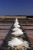 Salinas on the Fuerteventura stock photography