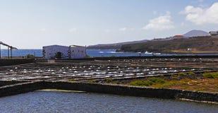 Salinas on the Fuerteventura. Island, Canary Islands, Spain Stock Photos