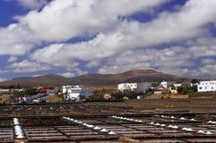 Salinas on the Fuerteventura royalty free stock image