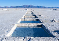 Salinas Grandes, Andes, Argentina Royalty Free Stock Photo