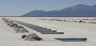 Salinas Grandes - Argentina. Salt Pools at the Salinas Grandes in Argentina Royalty Free Stock Images