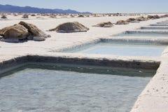 Salinas Grandes - la Argentina Fotos de archivo libres de regalías