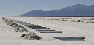 Salinas Grandes - la Argentina Imágenes de archivo libres de regalías