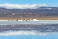 Salinas Grandes salt desert on Argentina Andes Stock Image