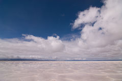 Salinas Grandes Salt Lake Stock Photo