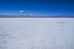Salinas grandes Royalty Free Stock Photo
