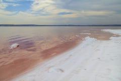 salinas Lago rosado en España Imagen de archivo