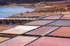 Salinas, Lanzarote. Lnadscape of salinas in Lanzarote, Spain Stock Photo