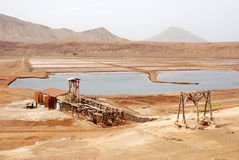Salinas - Sal Island, Cape Verde. Salinas - Pedra de Lume, Island Sal, Cape Verde Royalty Free Stock Image