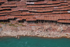 Salinas in Tibet Royalty Free Stock Photo