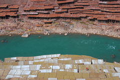 Salinas in Tibet Royalty Free Stock Photography