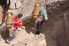 Salinas in Tibet Stock Image