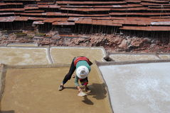 Salinas in Tibet Royalty Free Stock Photos