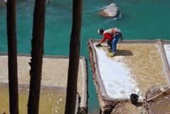 Salinas in Tibet Royalty Free Stock Image