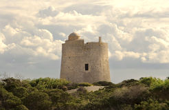 Salinas Tower Ibiza Royalty Free Stock Images