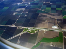 Salinas Valley 01. Aerial Salinas Valley, CA Royalty Free Stock Photo