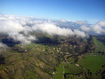 Salinas Valley 03. Aerial view of Salinas valley, CA Royalty Free Stock Photography