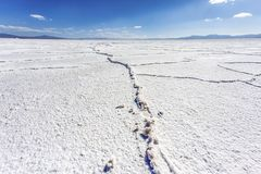 Salinasna Grandes i Jujuy, Argentina Arkivfoto
