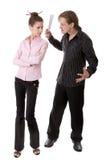 Saliência e secretária irritadas Foto de Stock