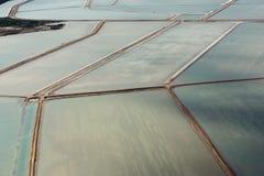 Saline aerial view in shark bay Australia Royalty Free Stock Photos