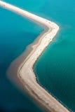 Saline aerial view in shark bay Australia. Saline aerial view in shark bay Monkey Mia Australia royalty free stock image