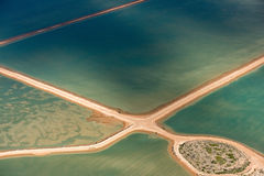 Saline aerial view in shark bay Australia Royalty Free Stock Photography